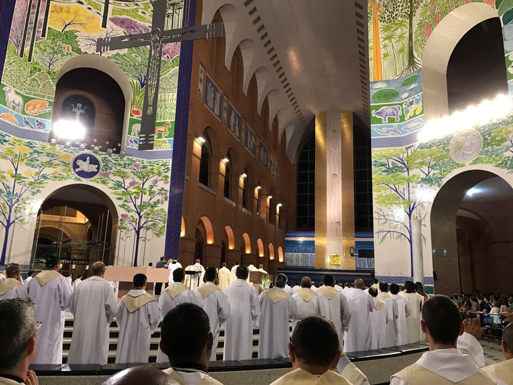 Mass at the Basilica of Our Lady of Aparecida.