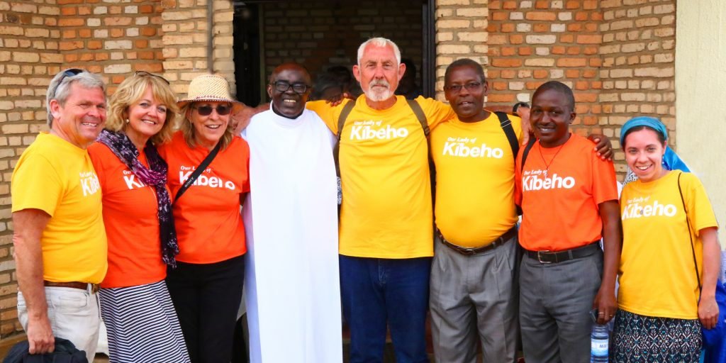 Dream Team at Kibeho, Rwanda with Fr. Ubald