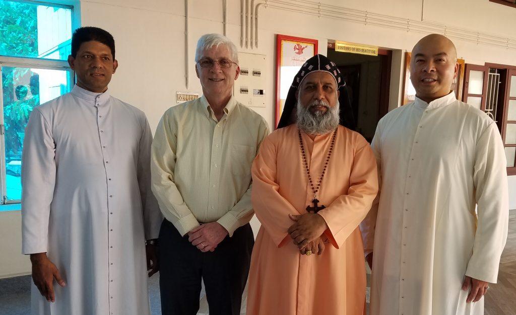 Cardinal Cleemis, Fr. Matthew (a shms STL grad) and FR. Chas.s CROPPED