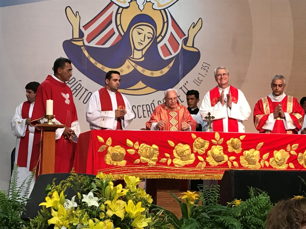 Fr. Jonas Abib is the celebrant, in the middle, and next to him on the right is Fr. Ed Dougherty.