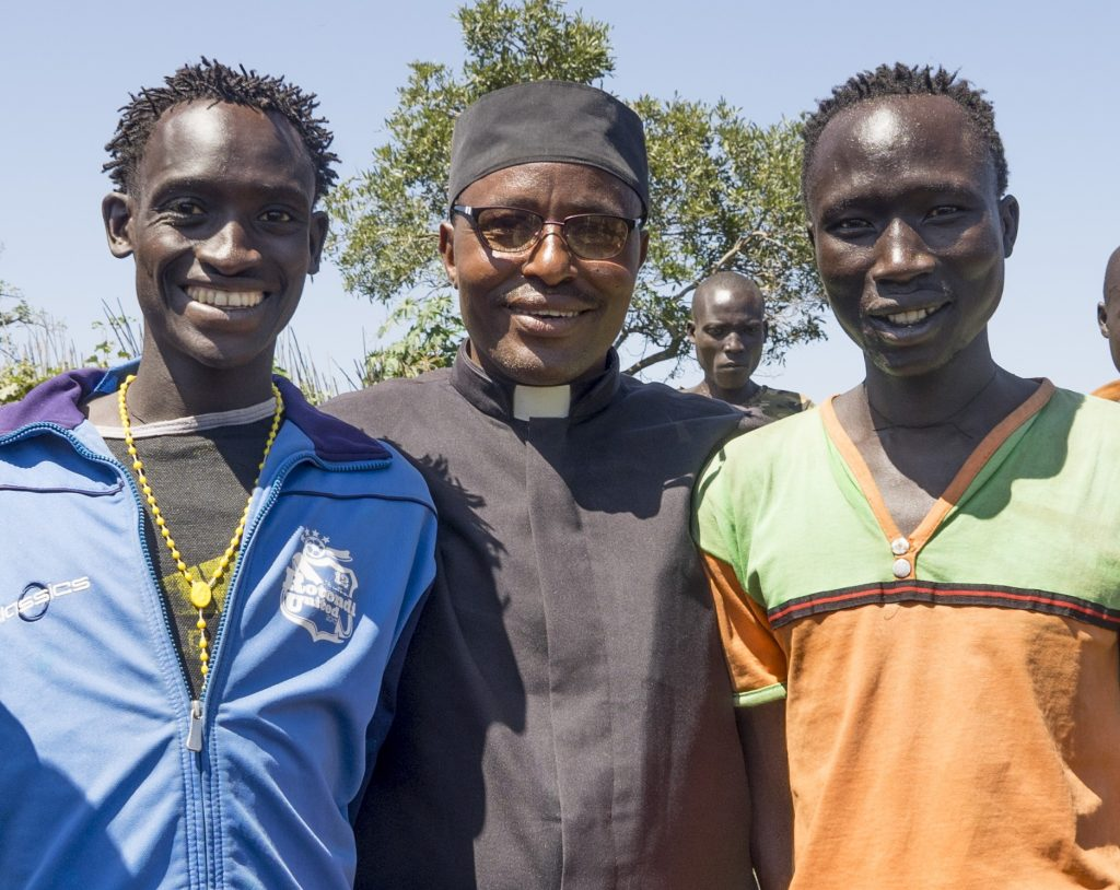 Gumuz evangelists with Fr. T