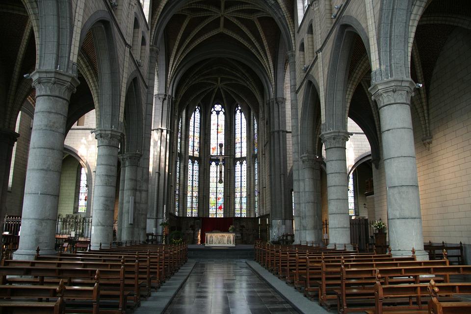 belgium church empty