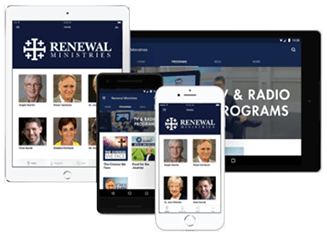 Renewal Ministries on a variety of media and devices