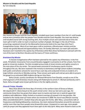 Rwanda Field Report 2009