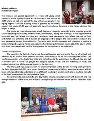 Kenya Field Report 2010