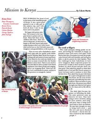Kenya Field report 2014