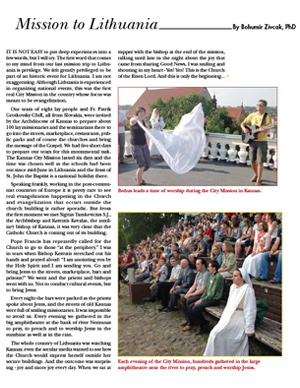 Lithuania Field Report 2013