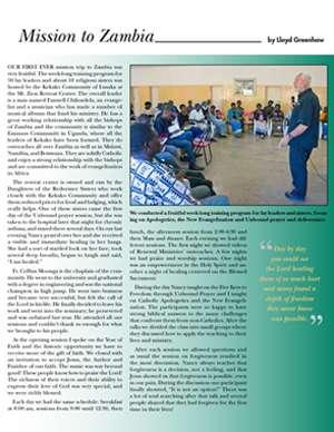Zambia Field Report 2013