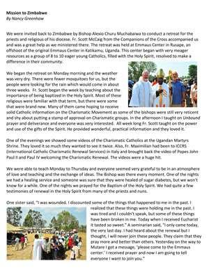 Zimbabwe Field Report 2010